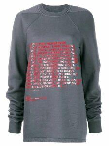 Rick Owens DRKSHDW Moody Flight oversize sweatshirt - Grey