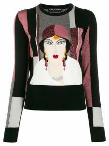 Dolce & Gabbana intarsia panelled jumper - Black