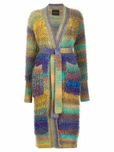 Roberto Collina bouclé wool belted cardigan - Green