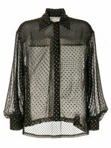 Kalmar Celia foil polka dot shirt - Black