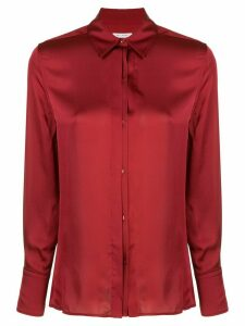 Equipment button-down high-shine shirt - Red
