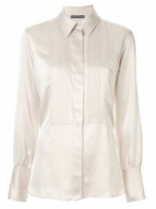 Alexa Chung pleated bib shirt - White