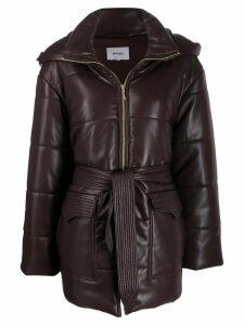Nanushka Lenox faux leather puffer coat - PURPLE