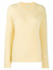 Sandro Paris embellished knit jumper - Yellow