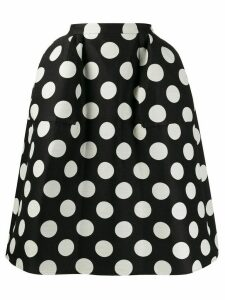 pushBUTTON polka dot full skirt - Black