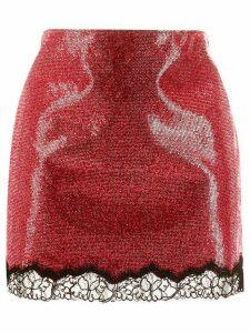 Philosophy Di Lorenzo Serafini embellished mini skirt - Red