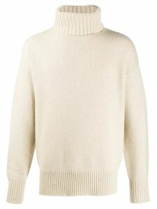 Extreme Cashmere roll neck jumper - NEUTRALS