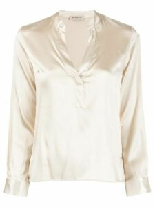 Blanca Vita v-neck blouse - NEUTRALS