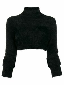 Versace Jeans Couture turtle neck crop top - Black