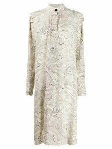 Lemaire marble print midi dress - NEUTRALS