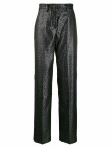 Pt01 glitter wide leg tailored trousers - Black