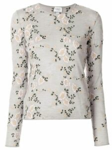 Giambattista Valli floral embroidered sweater - Grey