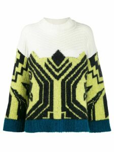 Circus Hotel Aztec pattern knit jumper - Yellow