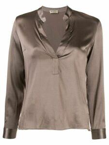 Blanca Vita v-neck blouse - Grey