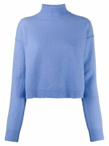 Erika Cavallini roll-neck knit jumper - Blue