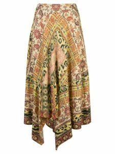 Etro Carpet-print midi skirt - ORANGE
