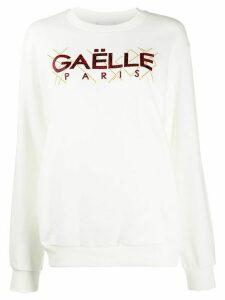 Gaelle Bonheur logo print sweatshirt - White