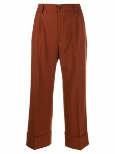 Berwich cropped palazzo trousers - Brown