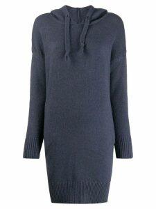 Jovonna knitted longline hoodie - Blue