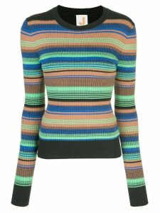 JoosTricot striped ribbed-knit jumper - ORANGE
