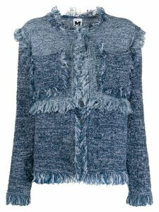 M Missoni frayed edge cardigan - Blue