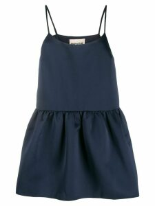 Semicouture spaghetti strap peplum camisole - Blue