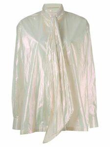 Christopher Kane iridescent diamond shirt - NEUTRALS