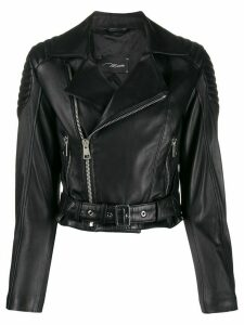Manokhi cropped biker jacket - Black