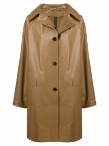 Kassl Editions faux leather coat - Brown