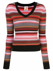 JoosTricot striped ribbed-knit jumper - PINK