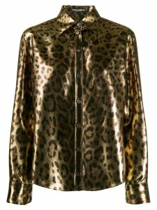 Dolce & Gabbana metallic leopard print shirt - GOLD