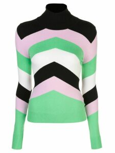 JoosTricot striped slim-fit jumper - Green