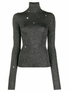 Christopher Kane metallic knit top - Grey