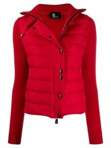 Moncler Grenoble puffer-panelled cardigan - Red