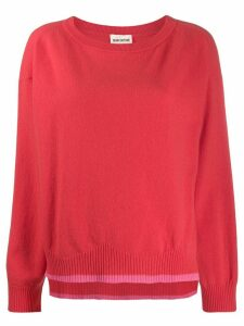 Semicouture two tone knit jumper - Red
