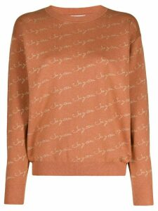 See By Chloé logo-print crew-neck pullover - Brown