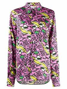 Marni x Bruno Bozzetto bolero print shirt - PINK