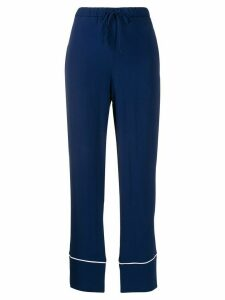 Marni straight cropped trousers - Blue