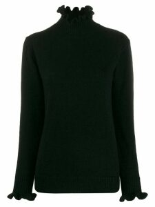 Undercover ruffled roll-neck jumper - Black