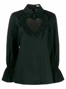 Vivetta heart neck blouse - Black