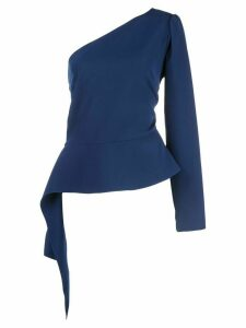 Christian Siriano one shoulder peplum top - Blue