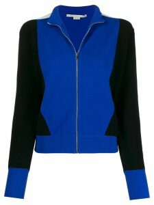 Stella McCartney colour block zipped cardigan - Black