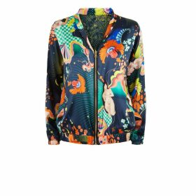Klements - Penny Bomber Reversible In Lucid & Abandoned Village Print