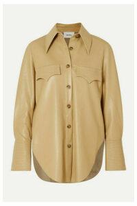 Nanushka - Elpi Vegan Leather Shirt - Neutral