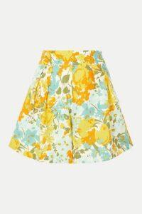 Faithfull The Brand - Ondine Floral-print Linen Shorts - Yellow