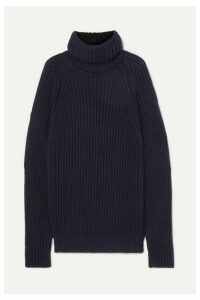 Esteban Cortázar - Oversized Open-back Ribbed Cotton Sweater - Navy