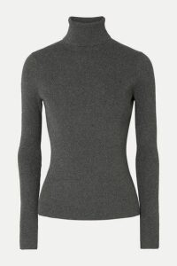 3.1 Phillip Lim - Metallic Ribbed-knit Turtleneck Sweater - Gray