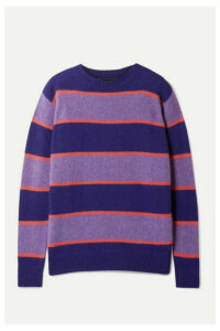 The Elder Statesman - Super Striped Cashmere Sweater - Purple