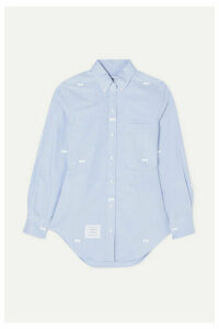 Thom Browne - Bow-embellished Cotton Oxford Shirt - Light blue