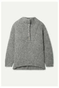 HATCH - The Jo Ribbed Cotton And Alpaca-blend Sweater - Gray